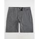 NITROUS BLACK Ace Slubtex Mens Hybrid Shorts
