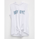 FULL TILT Boy Bye Girls Hooded Muscle Tee