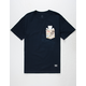 GRIZZLY Trail Map Mens Pocket Tee