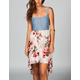 LOTTIE & HOLLY Chambray Floral Hi Low Dress