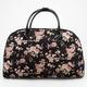 Velvet Floral Duffle Bag