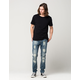 RSQ Seattle Mens Skinny Tapered Stretch Jeans