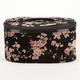Velvet Floral Cosmetic Case