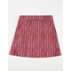 FULL TILT Pleated Stripe Girls Skirt