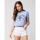 BILLABONG Retro Logo Womens Crop Tee