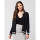 FULL TILT Track Womens Knit Bomber Jacket