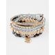 FULL TILT 5 Piece Elephant Diamond Friendship Bracelets
