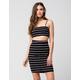 FULL TILT 2-Piece Stripe Bodycon Top And Skirt