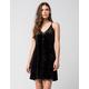 FULL TILT Velvet Slip Dress