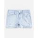 CELEBRITY PINK Mid Rise Frayed Hem Girls Denim Shorts