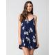 FULL TILT Floral Button Front Swing Dress