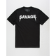 RIOT SOCIETY Savage Fangs Mens T-Shirt