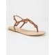 FREE REIGN Braided T Strap Womens Sandals