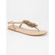 FREE REIGN Pom T Strap Womens Sandals