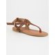 FREE REIGN Perforated T Strap Girls Sandals