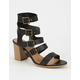 CITY CLASSIFIED Strappy Buckled Womens Heels