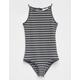 FULL TILT Stripe Hi Neck Girls Bodysuit
