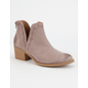 QUPID Perforated Side Slit Womens Boots