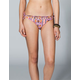 FULL TILT Snake Print Lattice Bikini Bottoms