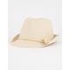Straw Girls Fedora Hat