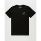 RIOT SOCIETY Dolphin Embroidery Mens T-Shirt