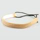 FULL TILT 3 Row Stud Stretch Faux Leather Headband