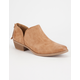 QUPID Low Side Slit Womens Booties