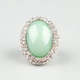 FULL TILT Rhinestone Mint Oval Ring