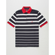 NAUTICA Gradient Stripe Mens Polo Shirt
