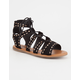 BAMBOO Studded Lace Up Womens Gladiator Sandals