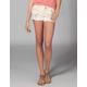 CELEBRITY PINK Floral Womens Denim Cutoff Shorts