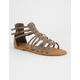 BAMBOO Strappy Back Zip Womens Gladiator Sandals