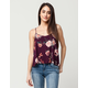 LIVING DOLL Floral Womens Swing Cami