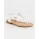 SODA Perforated T-Strap Girls Sandals