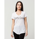 YOUNG & RECKLESS Never Cared Womens Scoop Tee