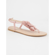 FREE REIGN Pom T Strap Womens Sandals