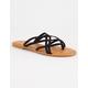 BAMBOO Criss Cross Womens Thong Sandals
