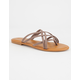 BAMBOO Criss Cross Womens Thong Sandals