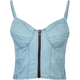 FULL TILT Zip Front Chambray Corset