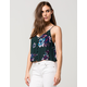 PATRONS OF PEACE Floral Button Front Womens Tank