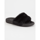 YOKIDS Faux Fur Girls Slide Sandals