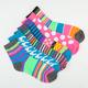 FULL TILT 6 Pack Stripe/Dot Womens Crew Socks
