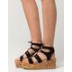 YOKI Ghillie Cork Womens Flatform Sandals