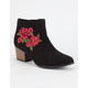 QUPID Embroidered Floral Womens Booties