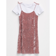 FULL TILT Velvet Girls 2fer Tee Dress