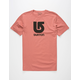 BURTON Logo Vertical Mens T-Shirt