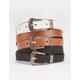 3 Pack Western Skinny Belts