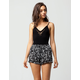 FULL TILT Floral Crochet Ruffle Womens Shorts