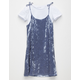 FULL TILT Velvet Girls 2fer Tee Dress