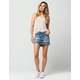 VANILLA STAR Premium Destructed Denim Mini Skirt